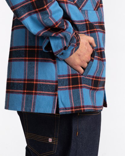 4 Wentworth Flannel Shirt Blue ALYWT00116 Element
