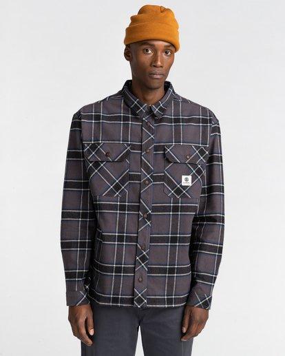 1 Wentworth Flannel Shirt Black ALYWT00116 Element