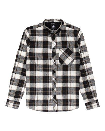 0 Lumber Long Sleeve Flannel Shirt Black ALYWT00118 Element