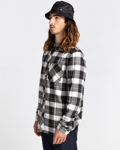 3 Lumber Long Sleeve Flannel Shirt Black ALYWT00118 Element
