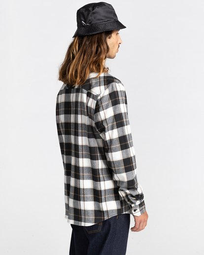 4 Lumber Long Sleeve Flannel Shirt Black ALYWT00118 Element