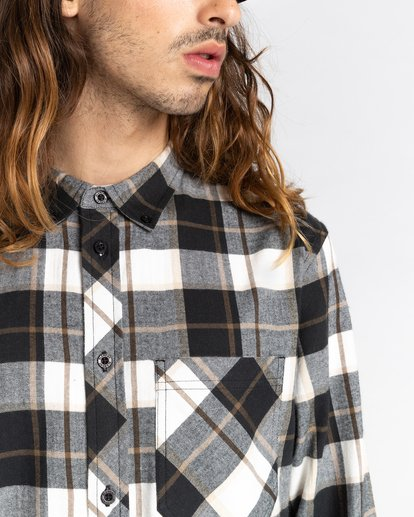 6 Lumber Long Sleeve Flannel Shirt Black ALYWT00118 Element