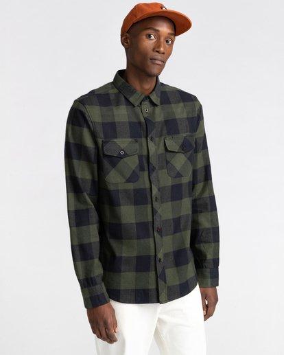 1 Tacoma Flannel Shirt Green ALYWT00121 Element