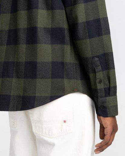 4 Tacoma Flannel Shirt Green ALYWT00121 Element