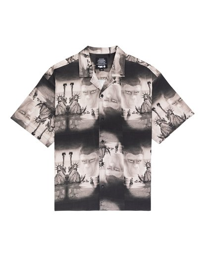 0 Planet of the Apes Paradise Short Sleeve Button-Down Shirt Black ALYWT00124 Element