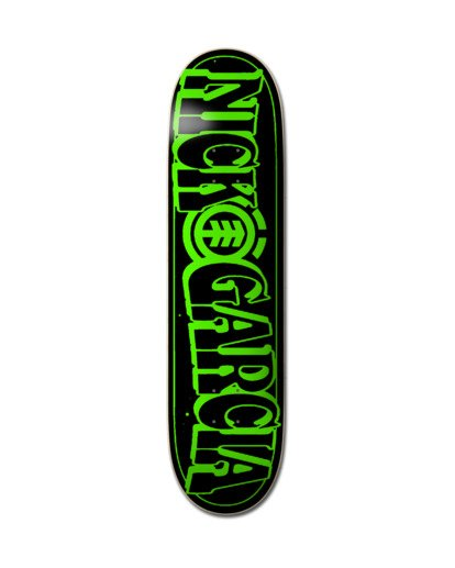 1 Out There Nick Garcia Glow-In-The-Dark Skateboard Deck Multicolor ALYXD00224 Element