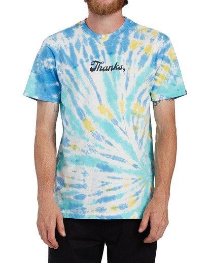 3 Thanks Wash T-Shirt Blue ALYZT00103 Element