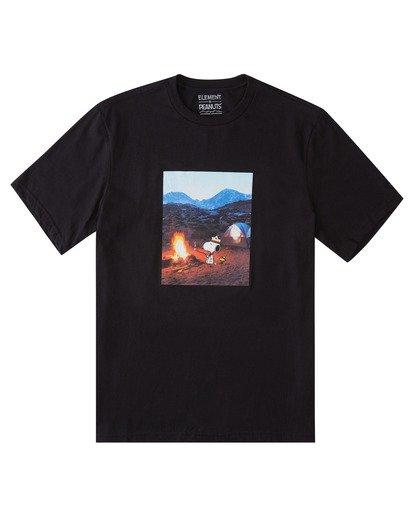 0 Peanuts x Element Adventure T-Shirt Blue ALYZT00161 Element