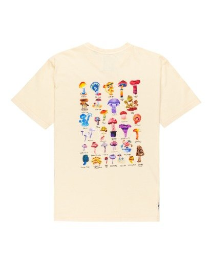 1 Shrooms Guide Short Sleeve T-Shirt Beige ALYZT00273 Element