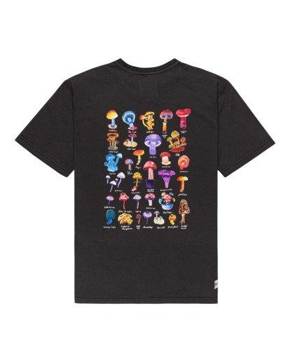 1 Shrooms Guide Short Sleeve T-Shirt Black ALYZT00273 Element