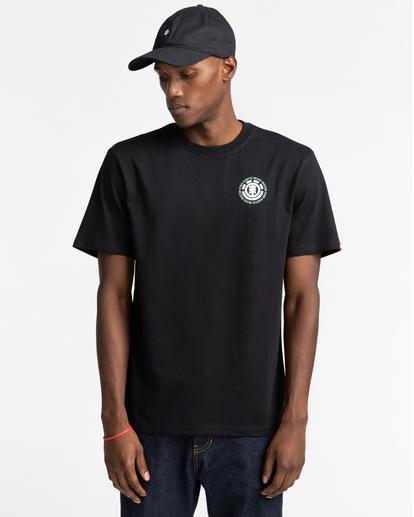 2 Seal Short Sleeve T-Shirt Blue ALYZT00278 Element