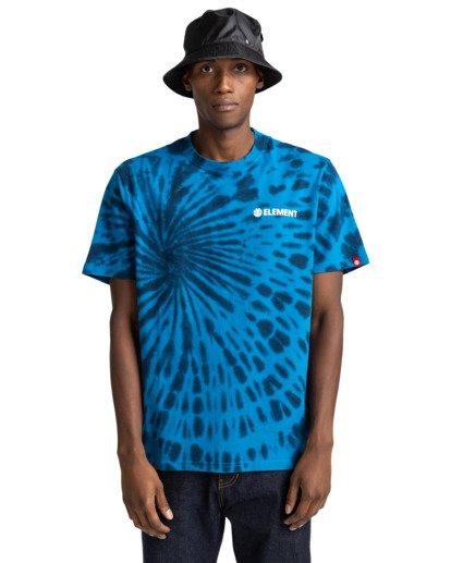 1 Blazin' Chest Tie-Dye Short Sleeve T-Shirt Blue ALYZT00280 Element
