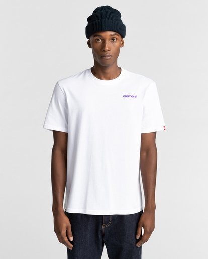 2 Elko Short Sleeve T-Shirt White ALYZT00287 Element
