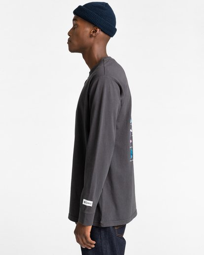 3 Shrooms Guide Long Sleeve T-Shirt Black ALYZT00322 Element
