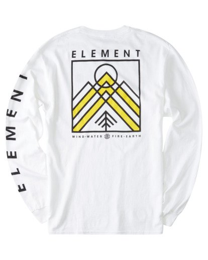 1 Dronis Long Sleeve T-Shirt White ALYZT00364 Element