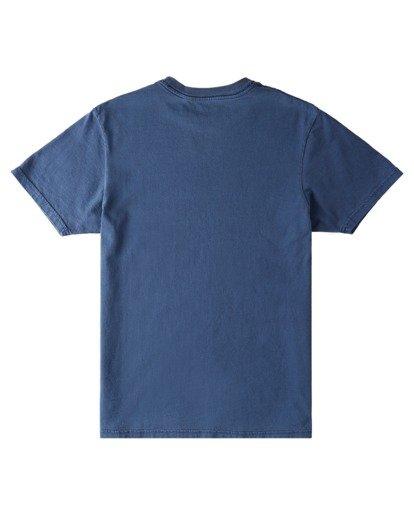 1 Sego Pigment Short Sleeve T-Shirt Blue ALYZT00381 Element