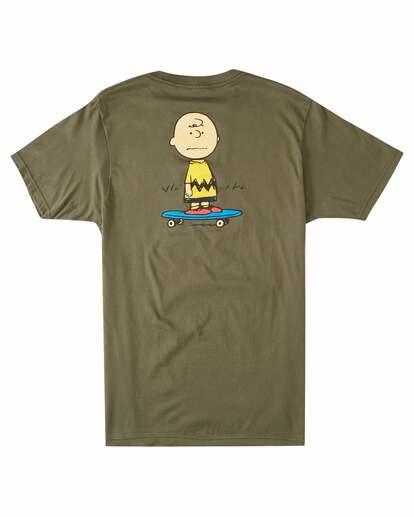 1 Peanuts Kruzer Short Sleeve T-Shirt Green ALYZT00469 Element