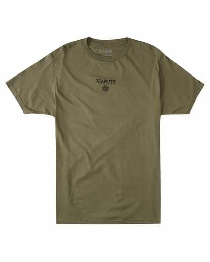 0 Peanuts Kruzer Short Sleeve T-Shirt Green ALYZT00469 Element