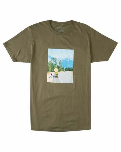 0 Peanuts Adventure Short Sleeve T-Shirt Green ALYZT00471 Element