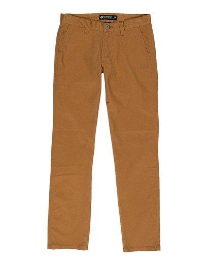0 Boys' Howland Classic Chino Pants Brown B3161EHP Element