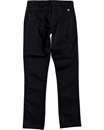 1 Boys' Howland Slim Straight Fit Chino Pants Blue B3183EHO Element
