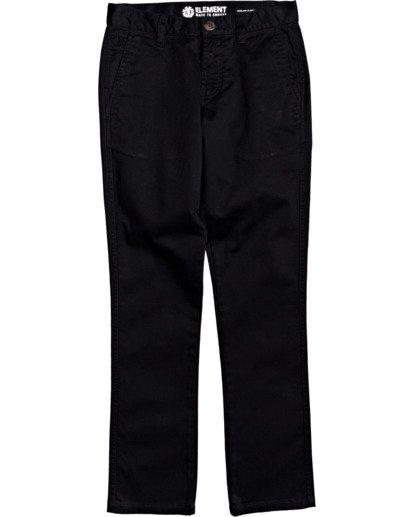 0 Boys' Howland Slim Straight Fit Chino Pants Blue B3183EHO Element