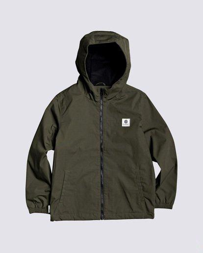 0 Boys' Alder Jacket Green B7163EAL Element