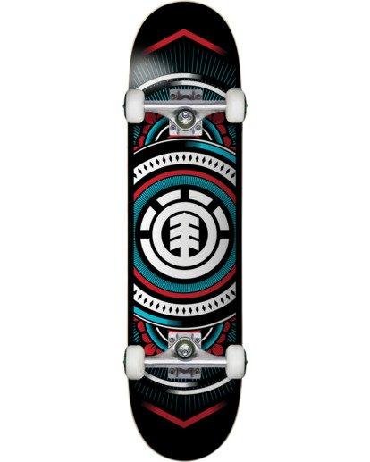 1 Hatched Red Blue Complete Skateboard Multicolor COLG3HTC Element