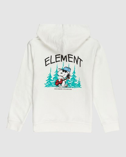 1 YOUTH PEANUTS GOOD TIMES HOODIE White G617322 Element