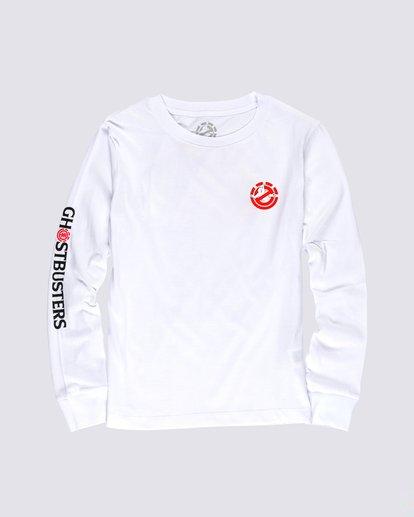 0 Women's Ghostbusters Long Sleeve T-Shirt White J4013EGB Element