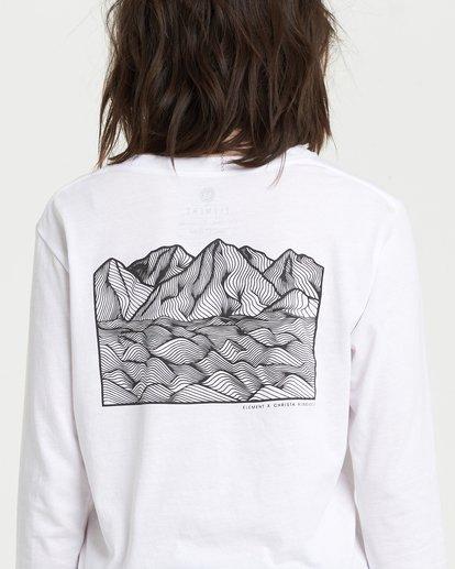 0 Christa Crop Long Sleeve T-Shirt White J4021ECH Element