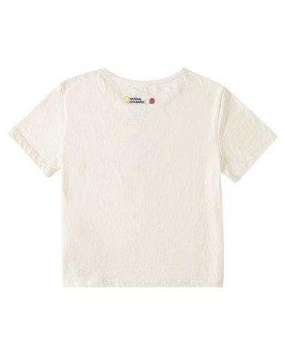 1 Wolf Crop T-Shirt White J412WEWP Element