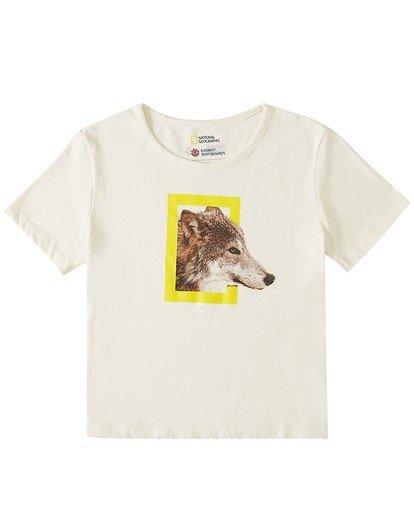 0 Wolf Crop T-Shirt White J412WEWP Element