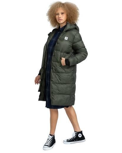 1 Wolfeboro Dulcey Long Puffer Jacket Green J7243EDL Element