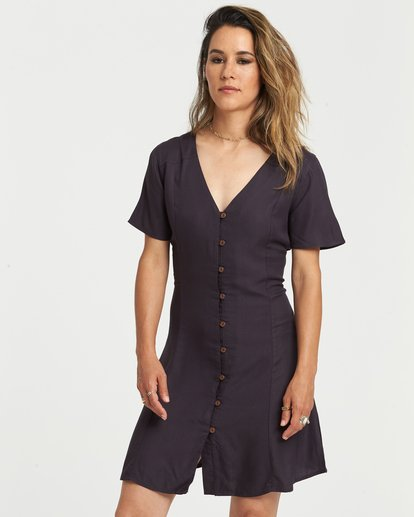 0 Sue Twill Dress Black JD381EST Element