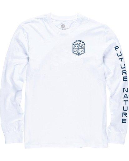 0 Sora Long Sleeve Shirt White M4704ESO Element