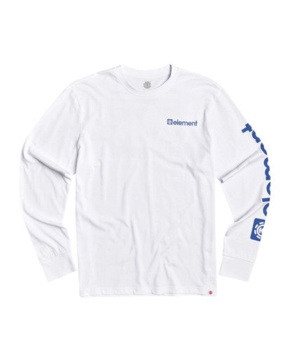 0 Joint II Long Sleeve T-Shirt White M4803EJ2 Element