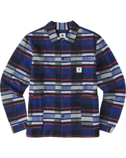 2 Americana Long Sleeve Flannel Blue M5623EAM Element