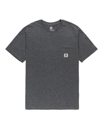 0 Basic Pocket Label - Camiseta de manga corta Gris N1SSG3ELP9 Element