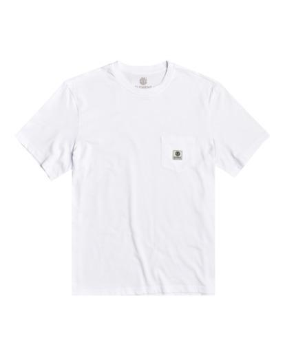 0 Basic Pocket Label - Camiseta de manga corta Blanco N1SSG3ELP9 Element