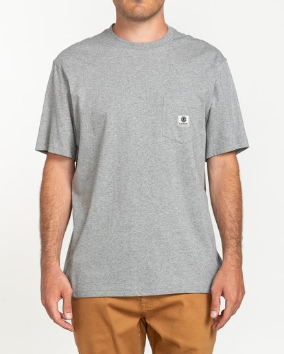 1 Basic Pocket Label - Camiseta de manga corta Gris N1SSG3ELP9 Element
