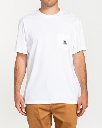 1 Basic Pocket Label - Camiseta de manga corta Blanco N1SSG3ELP9 Element