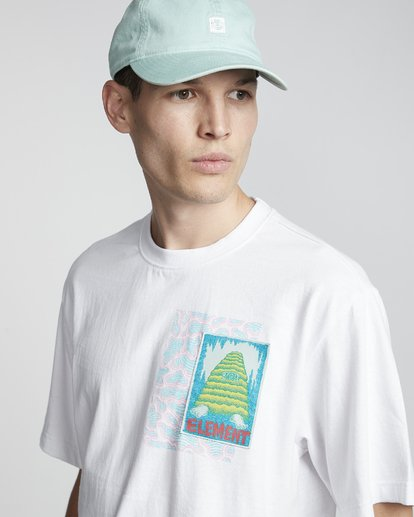 3 Tetsunori Tawaraka Pyramid Man - Maglietta a maniche corte da Uomo White S1SSE3ELP0 Element
