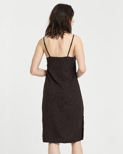 3 Roberta - Vestido con cuello en V para Mujer Negro S3DRA1ELP0 Element