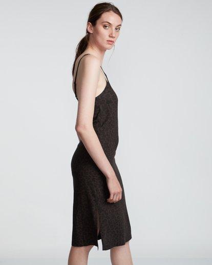 4 Roberta - Vestido con cuello en V para Mujer Negro S3DRA1ELP0 Element