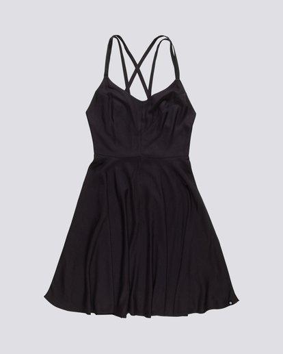 0 Heart Twill - Viskose Kleid für Damen Schwarz S3DRA2ELP0 Element