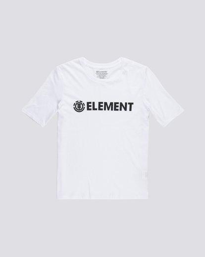 0 Element Logo - Camiseta de manga corta de algodón orgánico para Mujer Blanco S3SSA1ELP0 Element