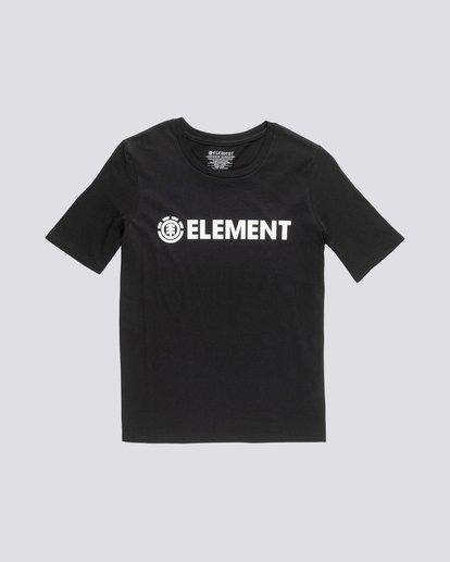 0 Element Logo - Camiseta de manga corta de algodón orgánico para Mujer Negro S3SSA1ELP0 Element