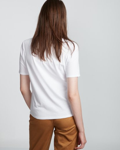 2 Element Logo - Camiseta de manga corta de algodón orgánico para Mujer Blanco S3SSA1ELP0 Element