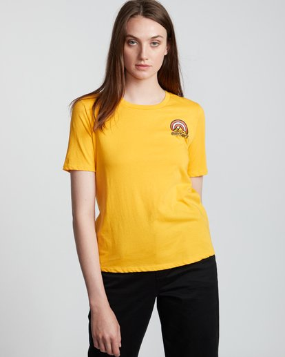 3 Branded - Camiseta de manga corta de algodón orgánico para Mujer Plateado S3SSA2ELP0 Element